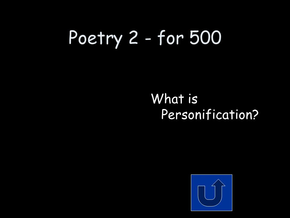 Poetry 2 - for 500 Remember to phrase your answer in the form of a question.