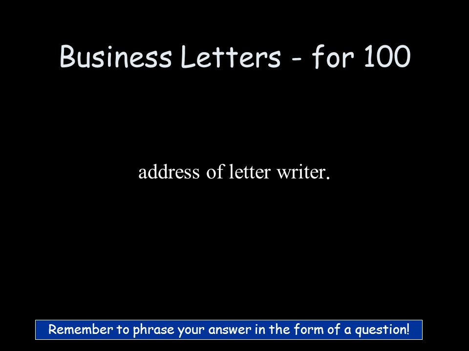 BONUS Business Letters Poetry 1 Poetry 2 Non- Fiction 1 Non- Fiction