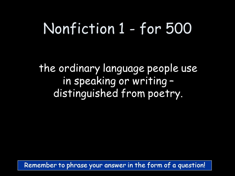Nonfiction 1 - for 400 What are Narrative essays