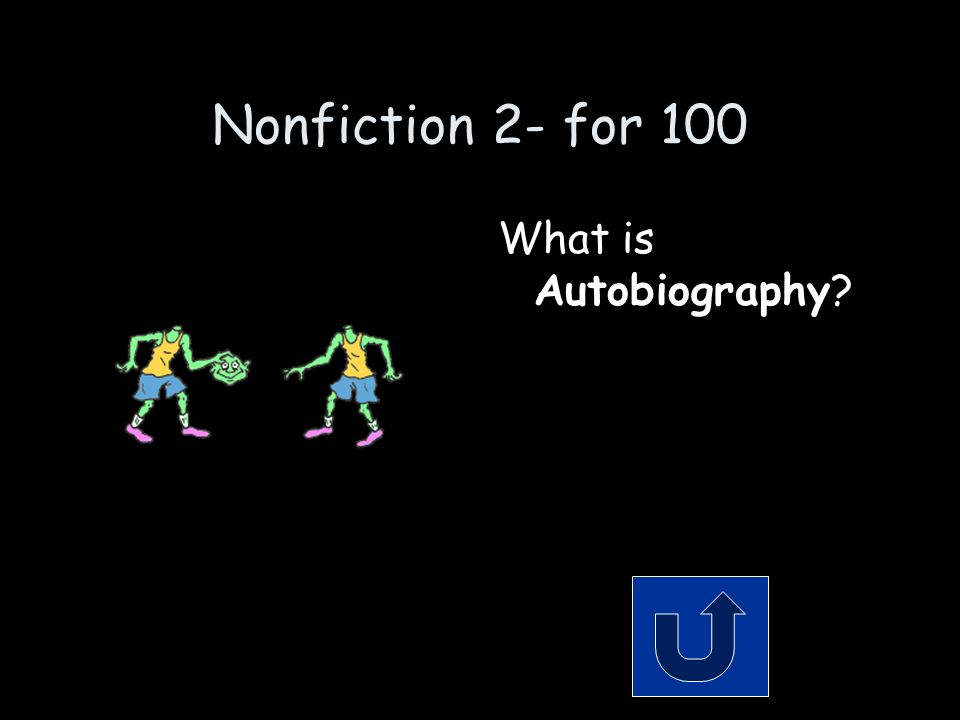 Nonfiction 2- for 100 Remember to phrase your answer in the form of a question.