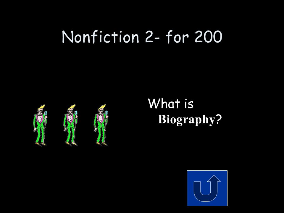 Nonfiction 2 - for 200 Remember to phrase your answer in the form of a question.