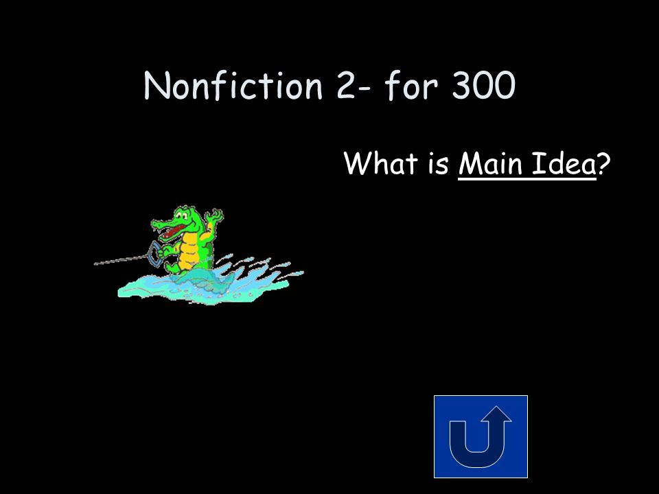 Nonfiction 2- for 300 Remember to phrase your answer in the form of a question.