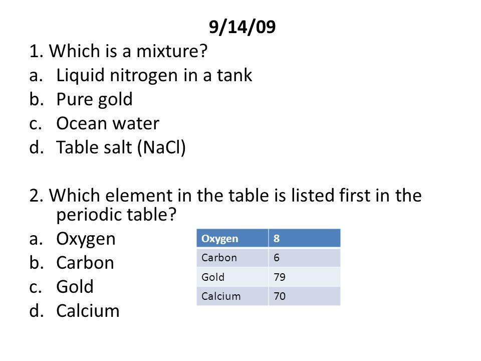 91409 1 Which Is A Mixture Aquid Nitrogen In A Tank Bpure