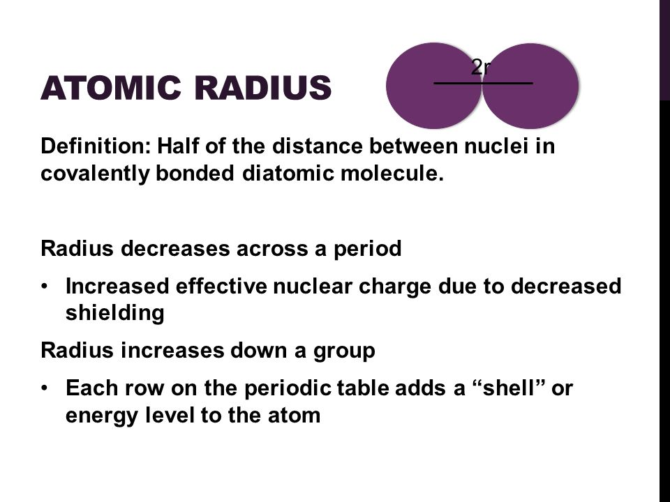 3 ATOMIC RADIUS Definition: ...