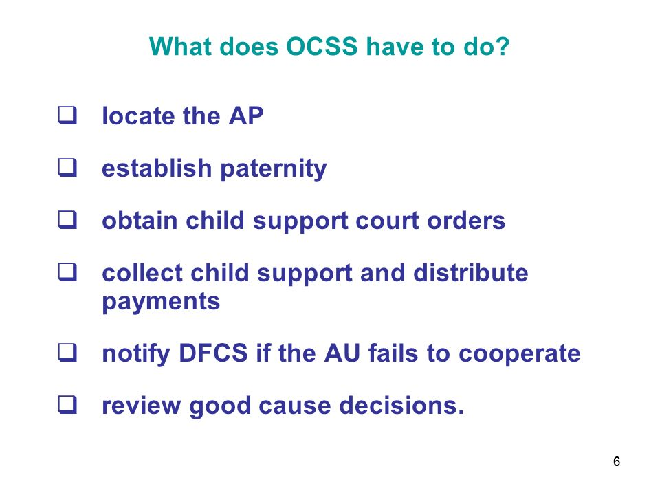1 Georgia's Child Support Program … what you need to know