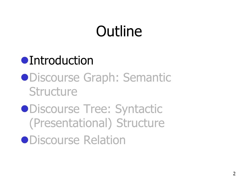 Aspects of Japanese discourse structure
