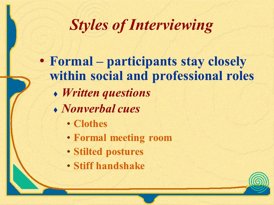 interviewing a professional questions