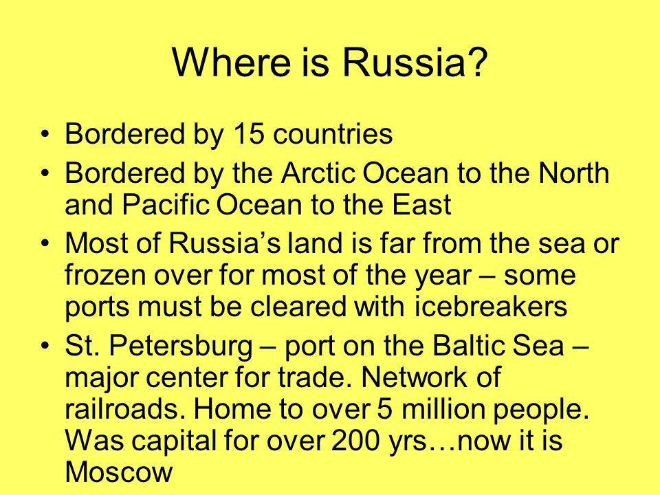 Where is Russia.