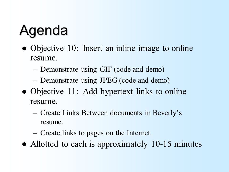 Career Development Workshop Demonstration Of Online Resume In Html