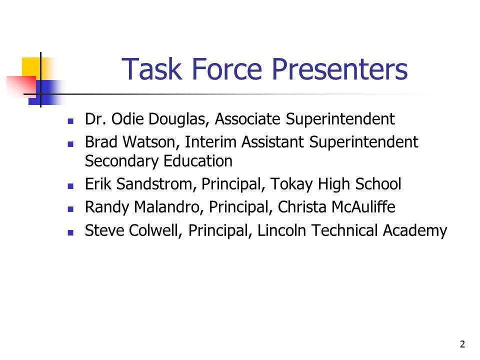 Lodi Unified School District Graduation Task Force Recommendations