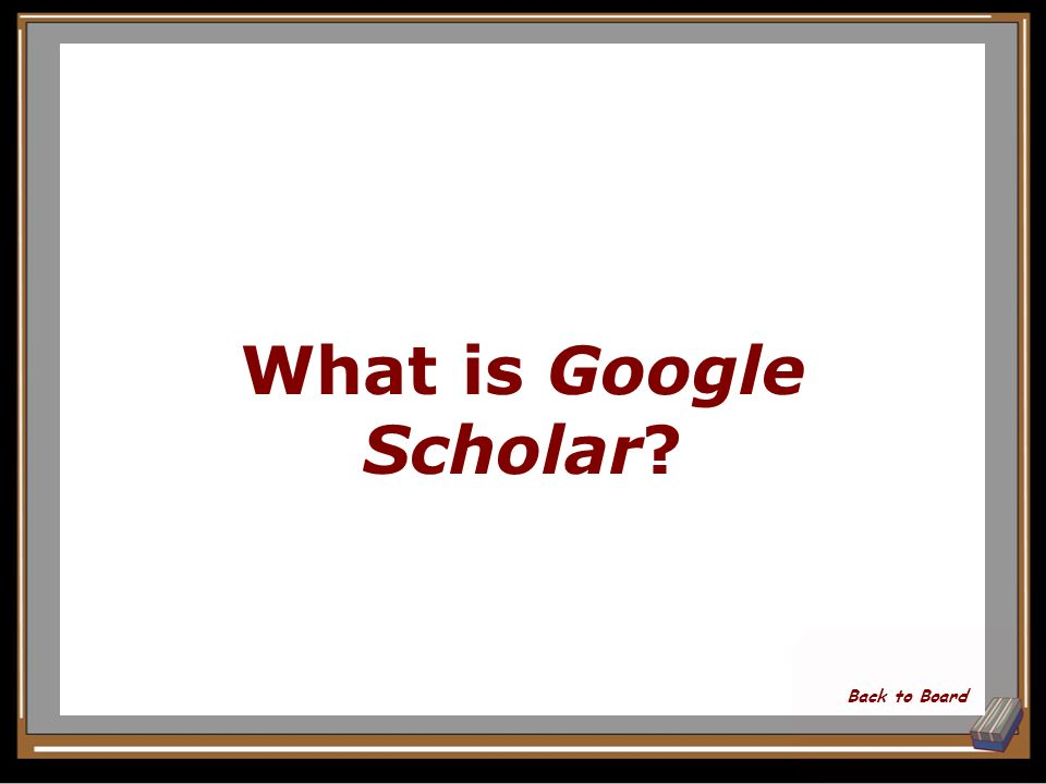 What part of Google will help you find academic resources for a research paper Show Answer