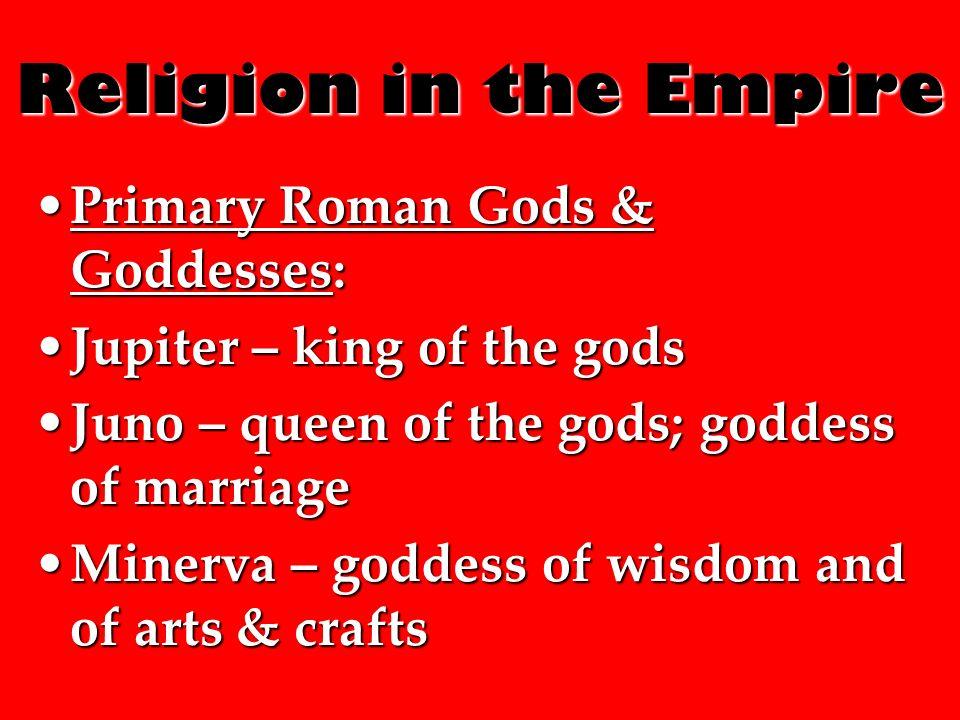 Religion in the Roman Empire  Religion in the Empire Early