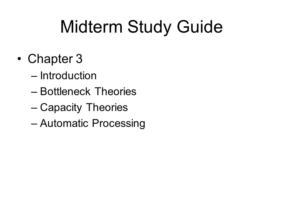 mg375 midterm study guide Study guide: midterm exam to be held in lecture on wednesday, april 5th the purpose of the midterm exam is to allow you to demonstrate two things: that you have learned and fully understand the material covered in lecture and in the readings.