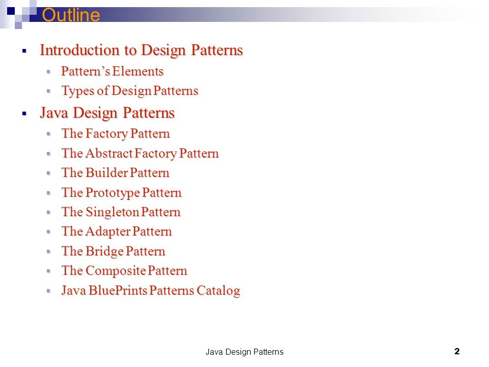 Java Design Patterns 1 Department Of Computer Science And Software Engineering Concordia University Emil Vassev Joey Paquet Ppt Download