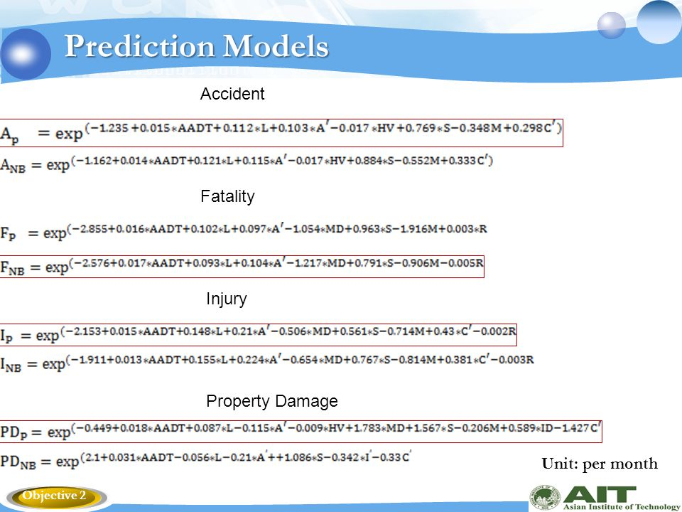 Development of Accident Prediction Models for the Highways