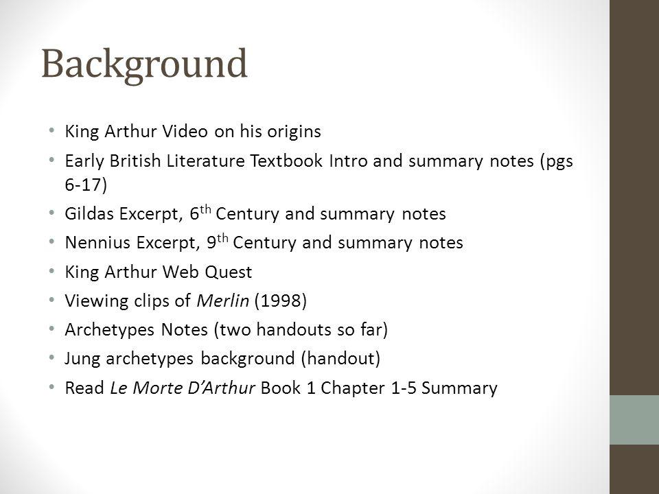 le morte d arthur literary analysis answers