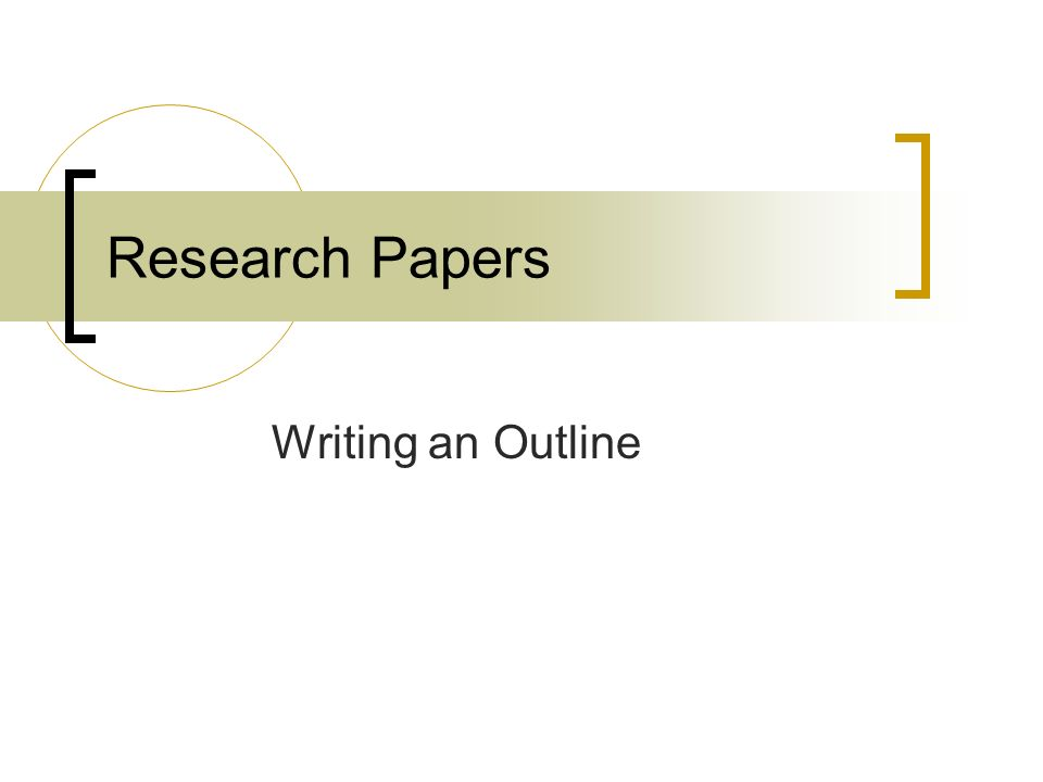 example of a topic outline for a research paper