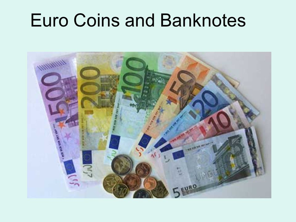 9 Euro Coins And Banknotes
