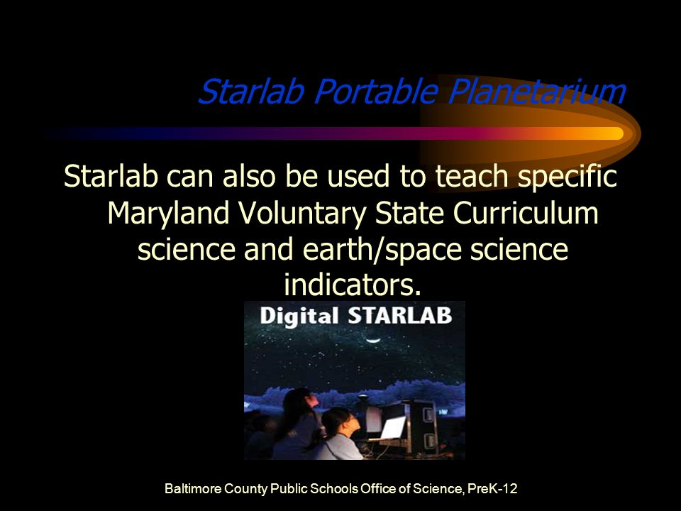 Starlab Curriculum At A Glance Baltimore County Public Schools