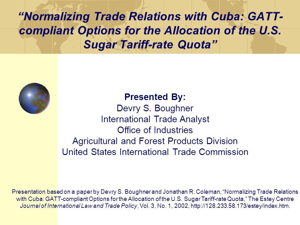analyst International trade