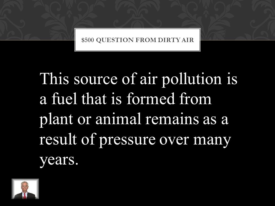 $400 ANSWER FROM DIRTY AIR What are the lungs
