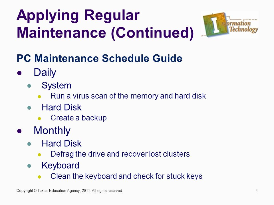 computer maintenance environmental maintenance cleaning 1copyright rh slideplayer com Computer Maintenance Technician Computer Maintenance Icon