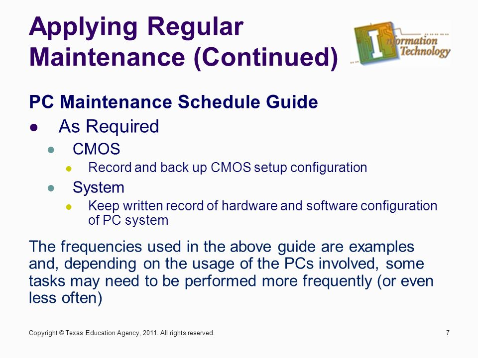 computer maintenance environmental maintenance cleaning 1copyright rh slideplayer com software maintenance guide Software Maintenance and Support