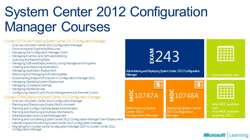 System Center 2012 Certification And Training May Ppt Download