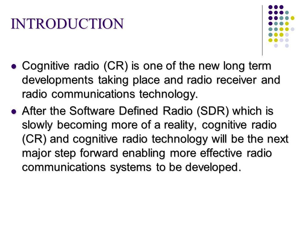 COGNITIVE RADIO INTRODUCTION EBOOK DOWNLOAD