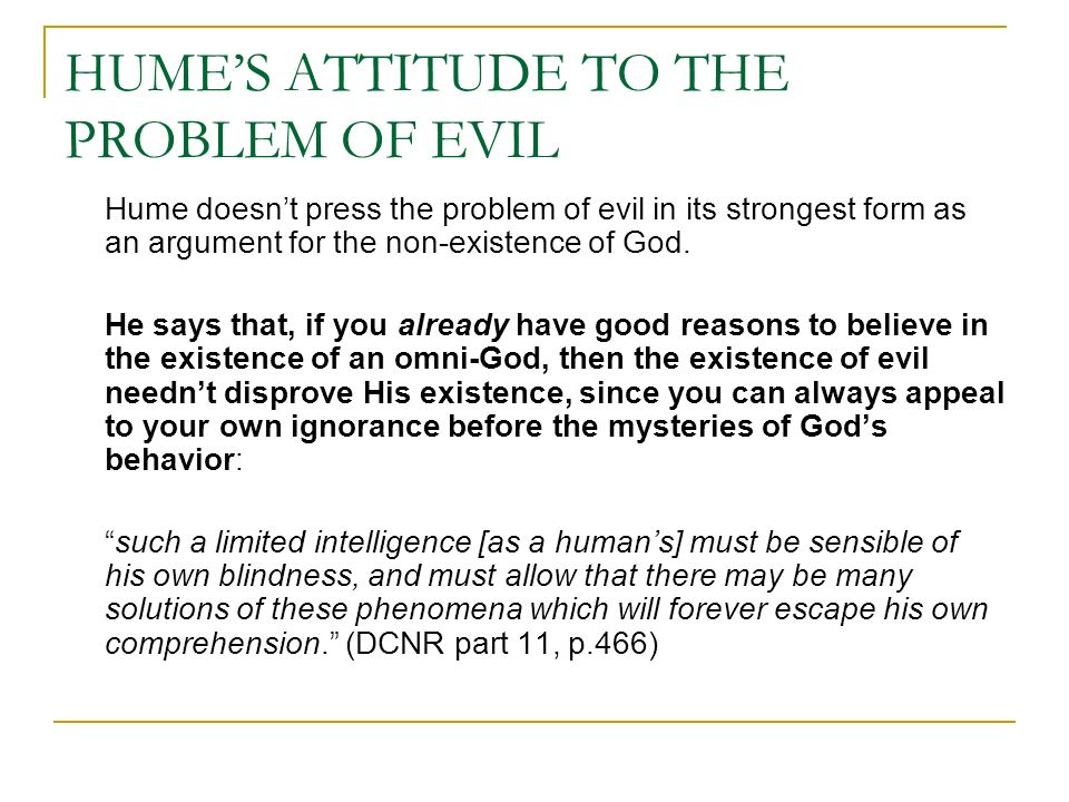 does the problem of evil disprove god