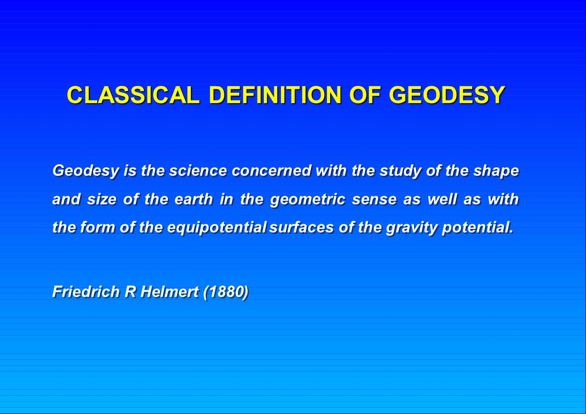What is geodesy 21