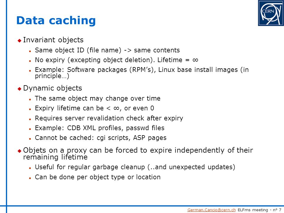 ELFms meeting, 2/3/04 German Cancio, 2/3/04 Proxy servers in