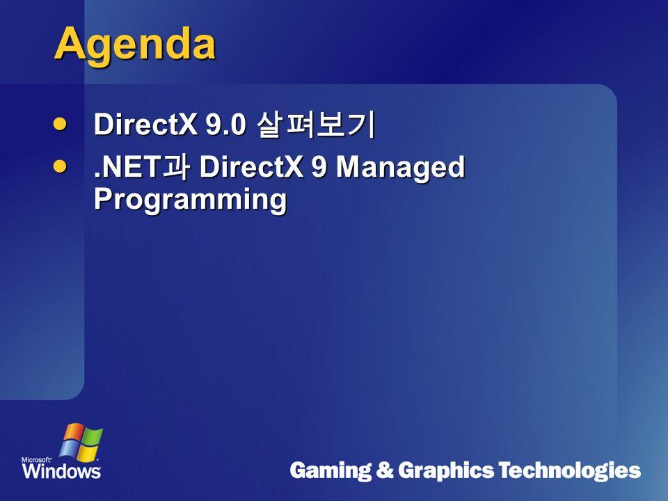 차세대 그래픽 개발 환경 NET & DirectX 강성재 Community Specialist