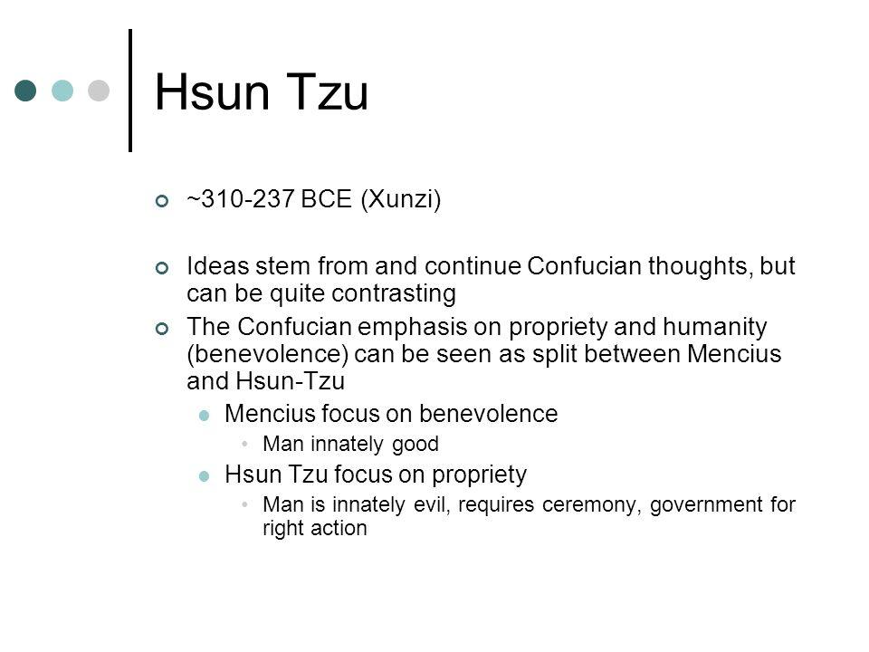 mencius and hsun tzu