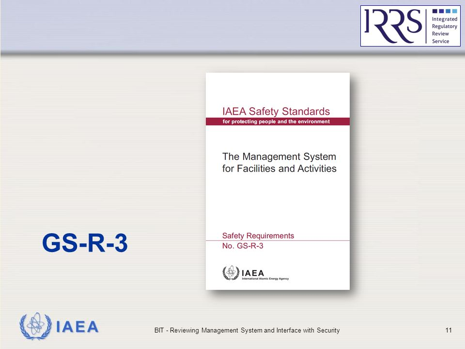 IAEA GS-R-3 BIT - Reviewing Management System and Interface with Security11