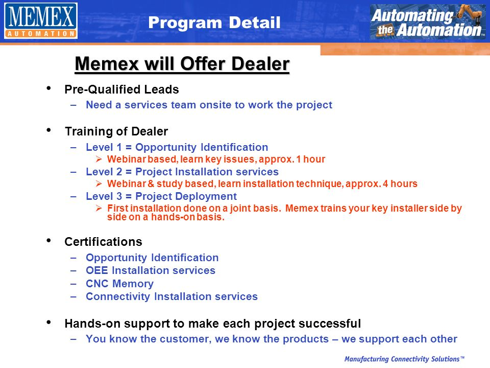 Machine Tool Dealer Value Added Reseller Program