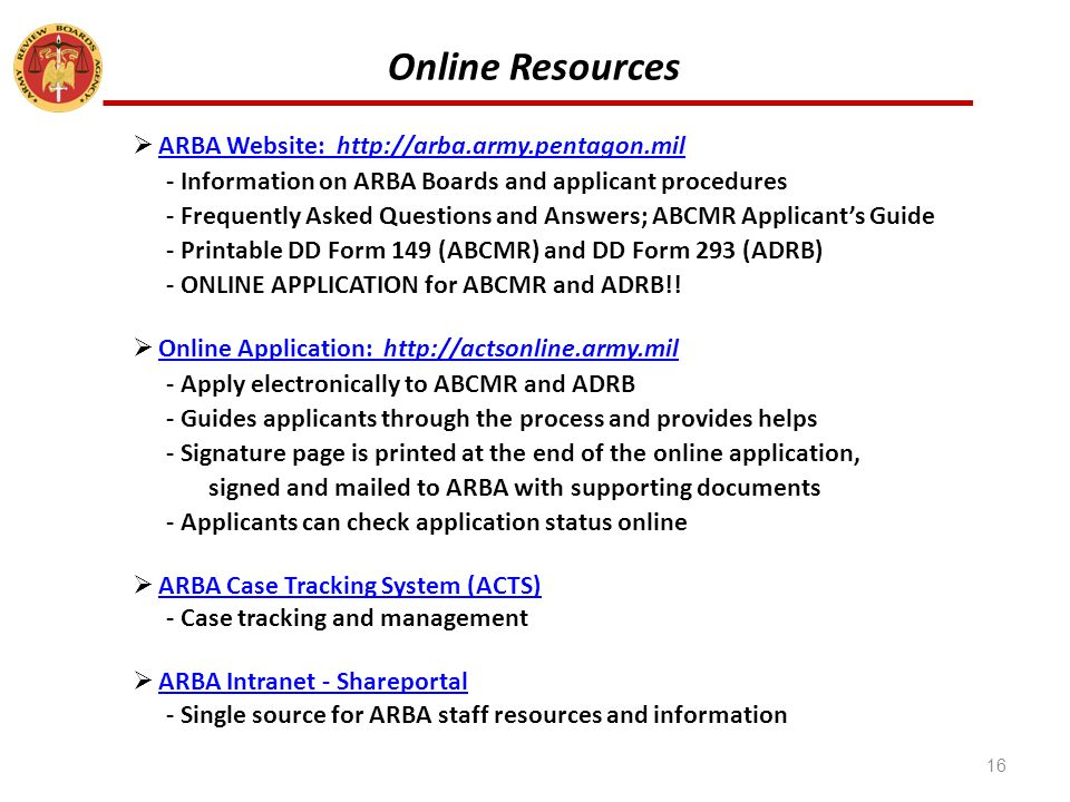 army review boards agency (arba) serving soldiers, veterans, and