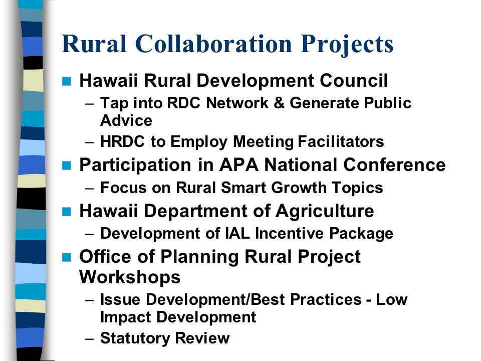 Rural Development Project Working Together to Preserve & Grow Rural