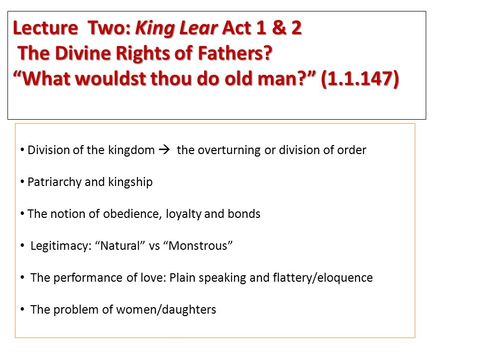 the absent mother in king lear