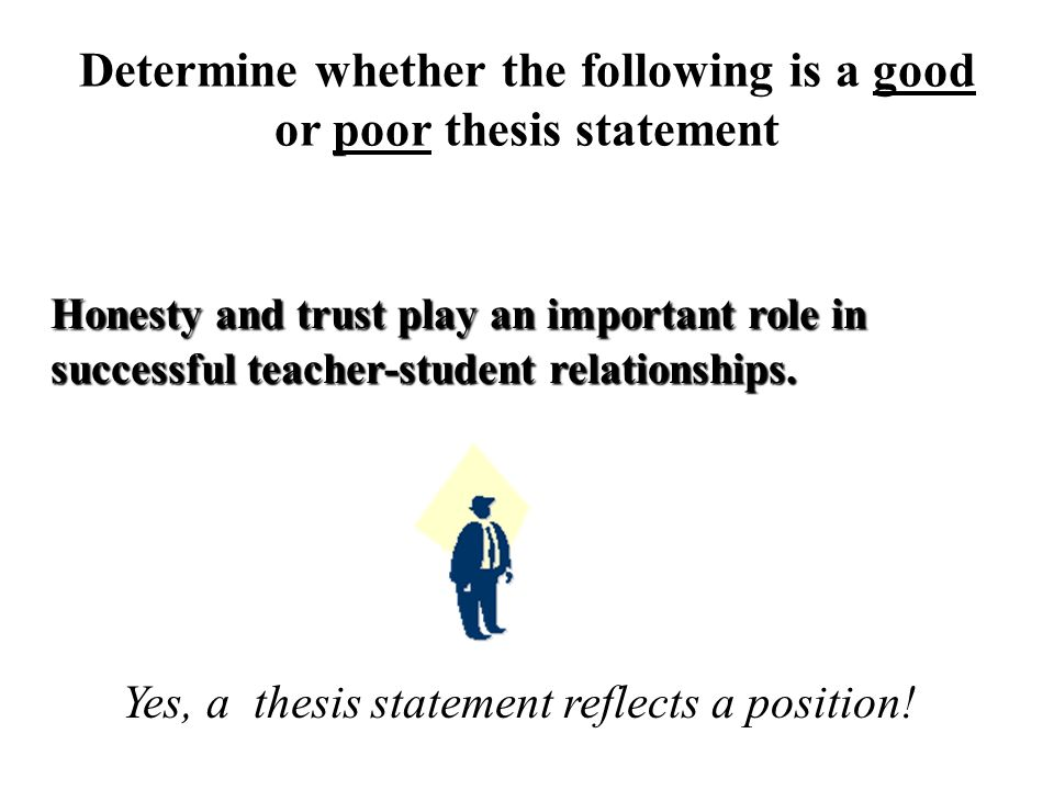 trust thesis statement