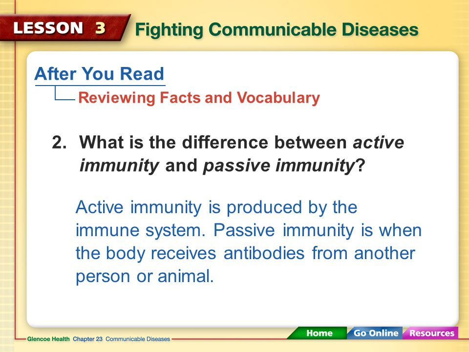 After You Read Reviewing Facts and Vocabulary To prevent further injury to tissue and to stop invading pathogens 1.What is the purpose of the inflammatory response