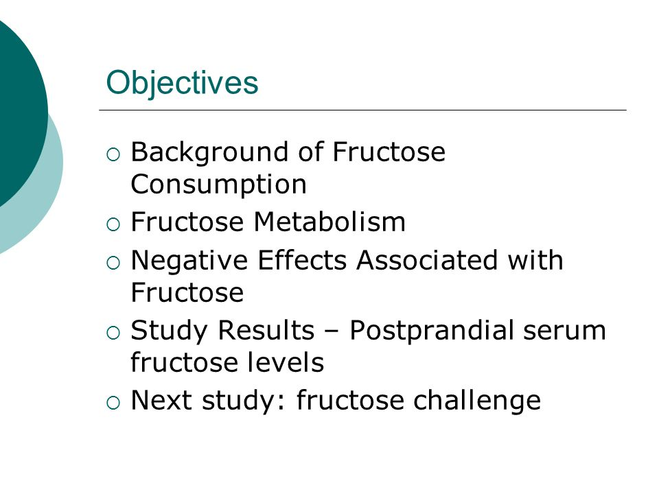Postprandial Serum Fructose Levels in Patients Tested for