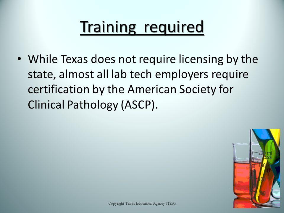 Career Focus Medical Laboratory Technician Copyright Texas Education