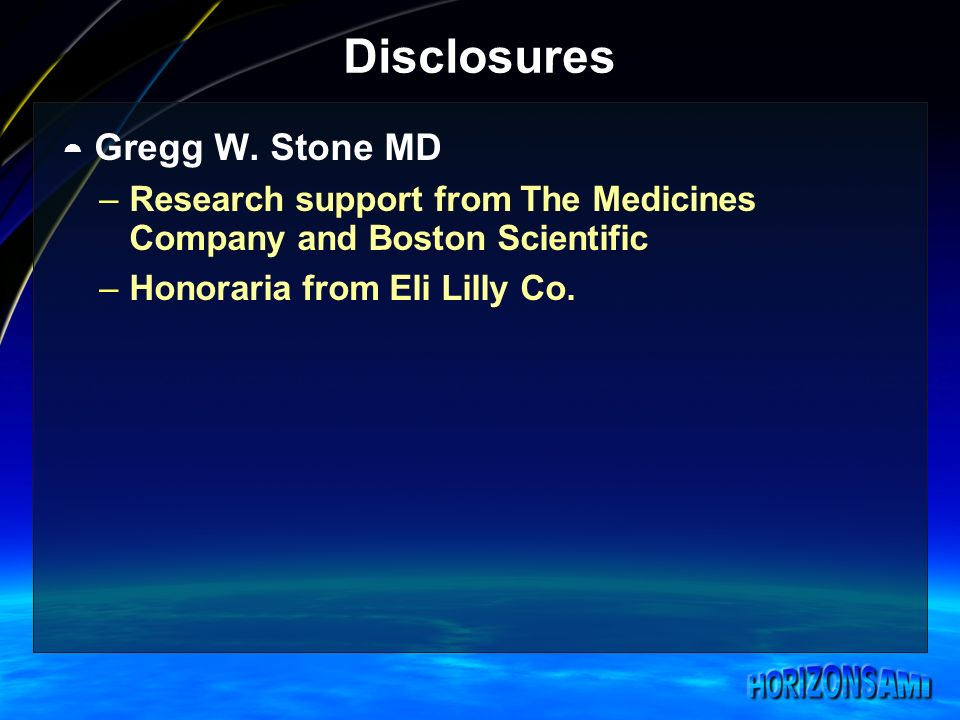 Disclosures   Gregg W.