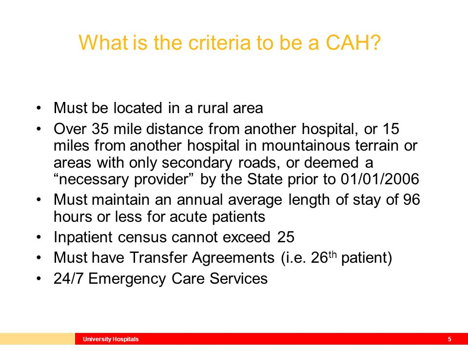 What is a Critical Access Hospital ? Robert David, President