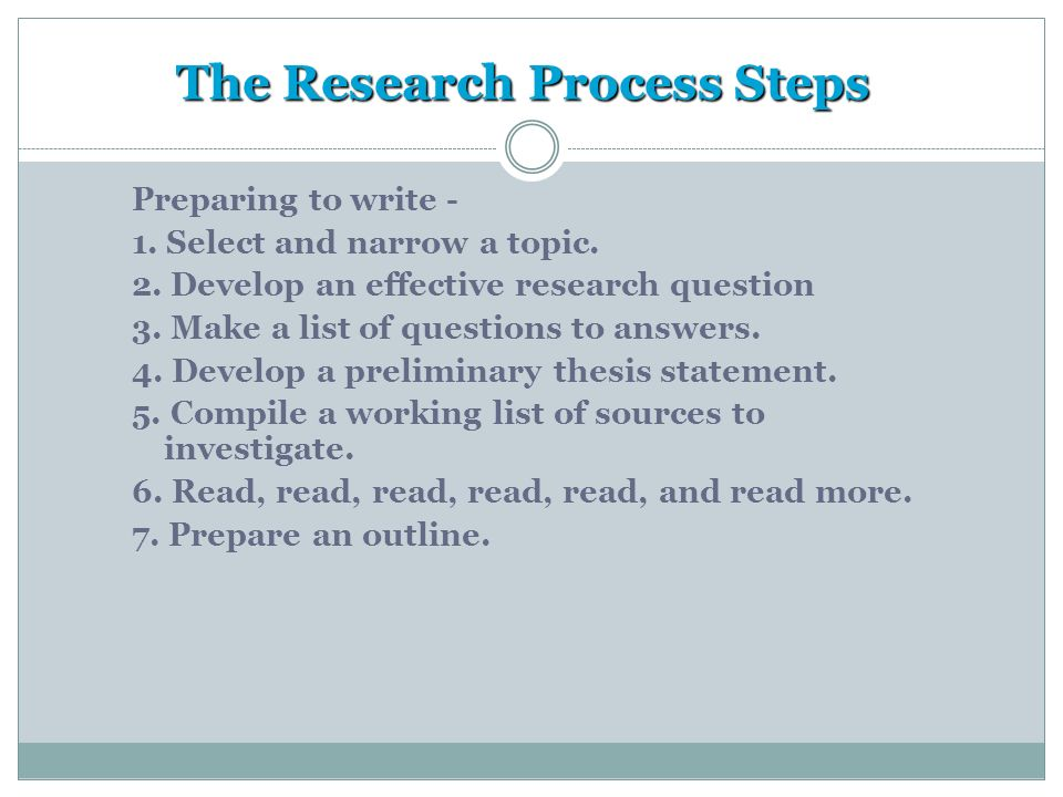 5 major steps in preparing a research paper Read chapter 5 preparing for the next disease outbreak: the emergence of severe acute respiratory syndrome (sars) in late 2002 and 2003 challenged the gl.