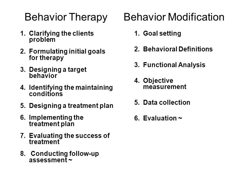 Behavior Therapy Techniques Lesson 18 Behavior Therapy 1