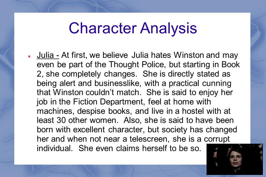 winston 1984 character analysis