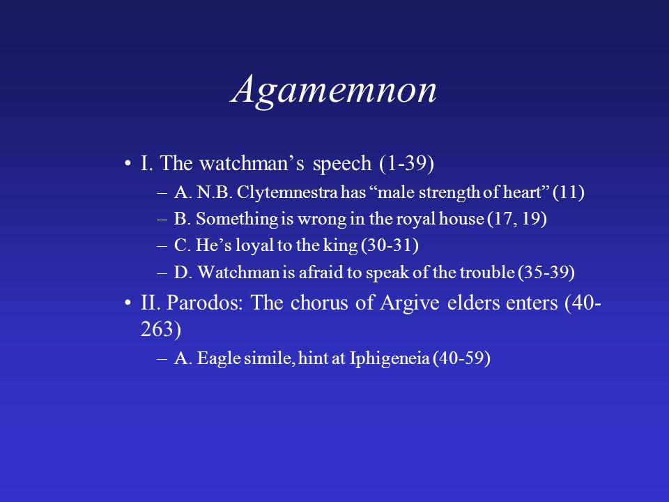 role of chorus in agamemnon
