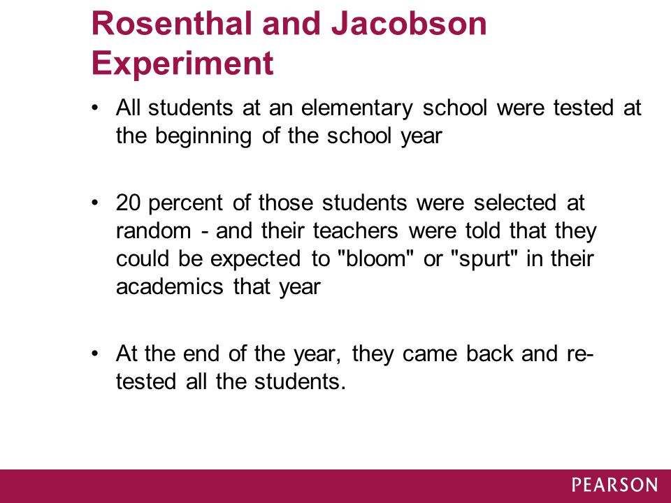 rosenthal and jacobson experiment